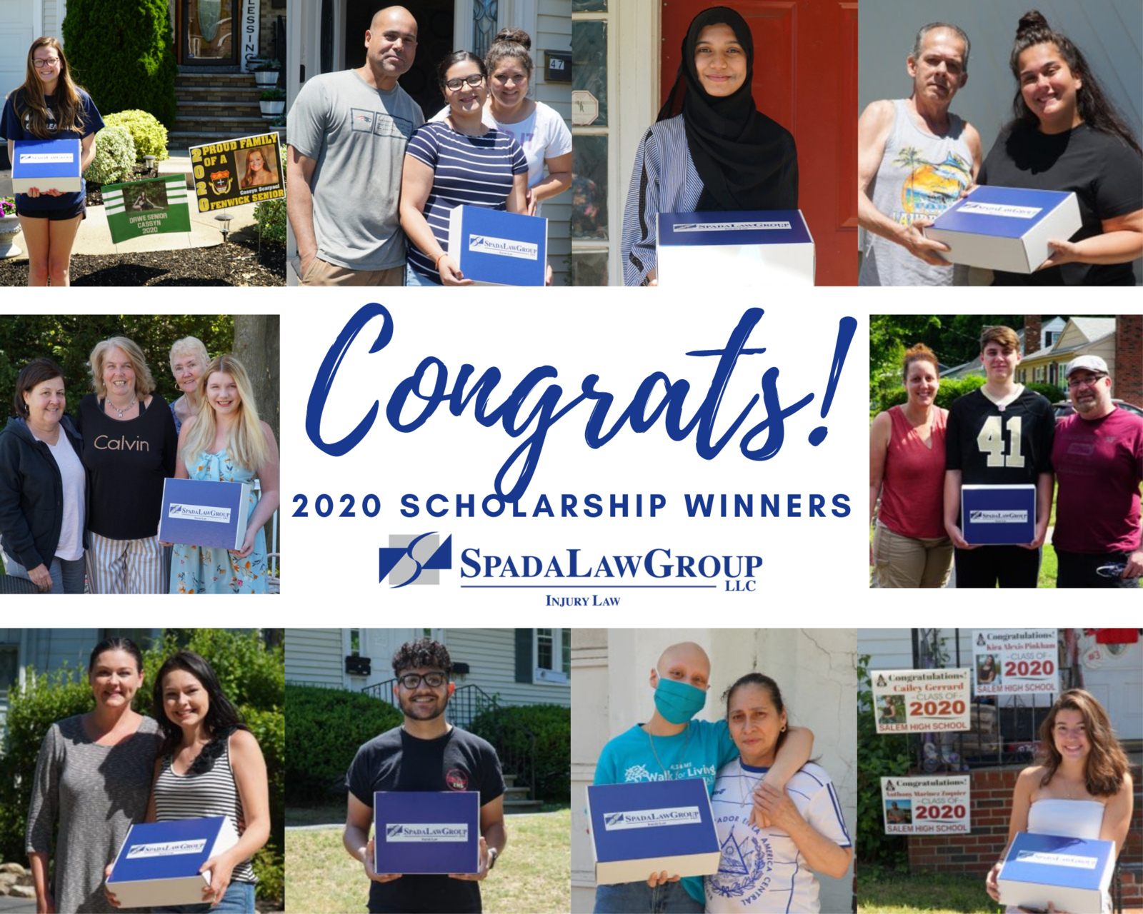 Spada Law Group Scholarship Fund Winners