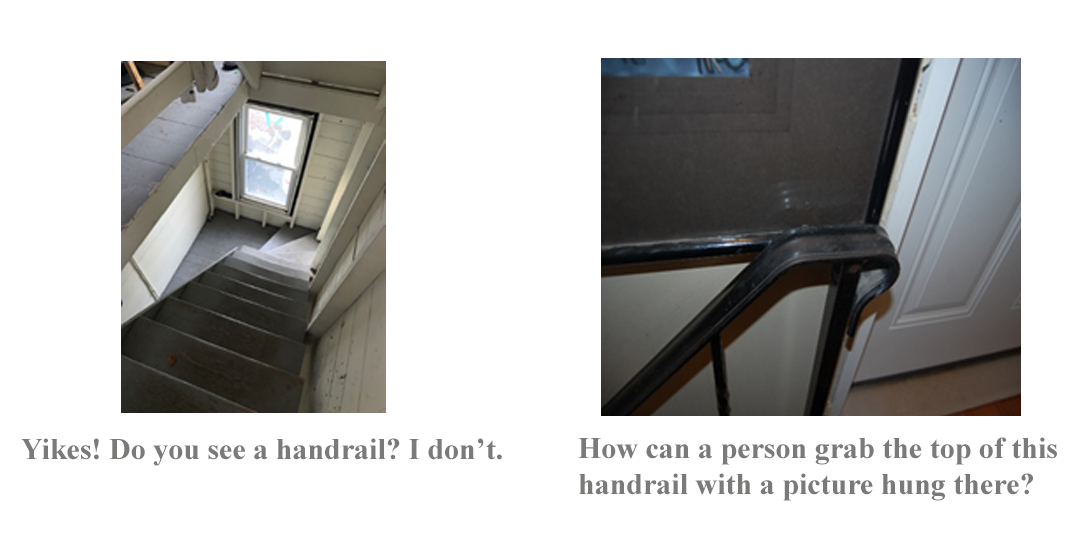 slip and fall defective stairs home law suit