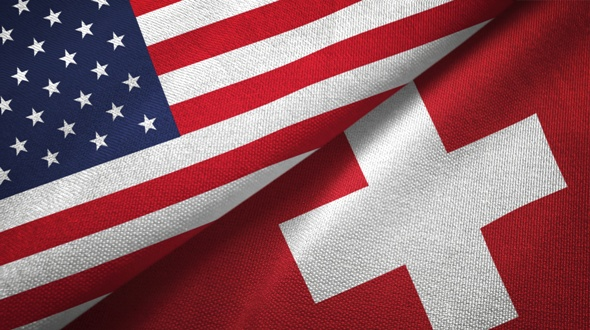 United States and Swiss flags depict idea that the US is the New Switzerland