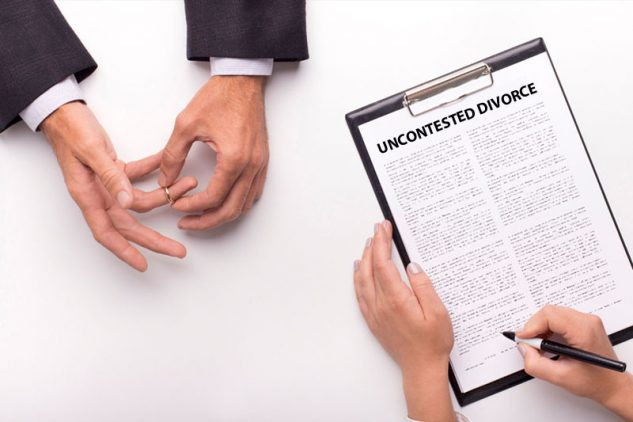 Signing uncontested divorce document