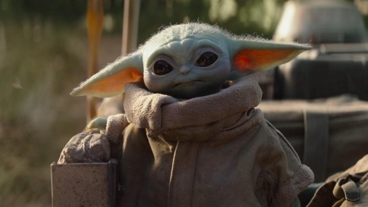 Baby Yoda frowning.
