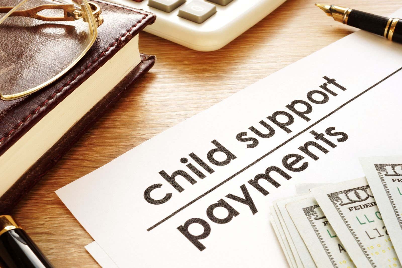 Child Support Agreement on Desk