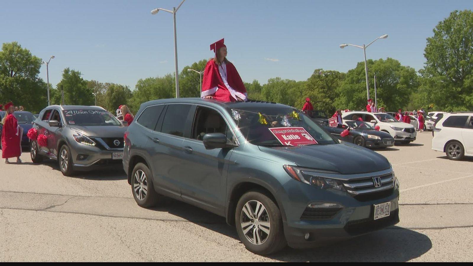 New Mexico high school graduation parade.