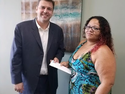 Attorney Tony Kestner With Client