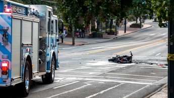 Motorcycle Wreck Debris Left at a Tennessee Intersection Haro and Kestner Law Firm