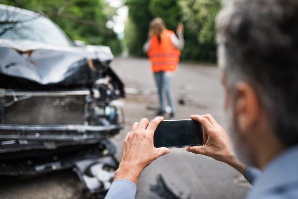 Scene of a car accident Nashville, TN