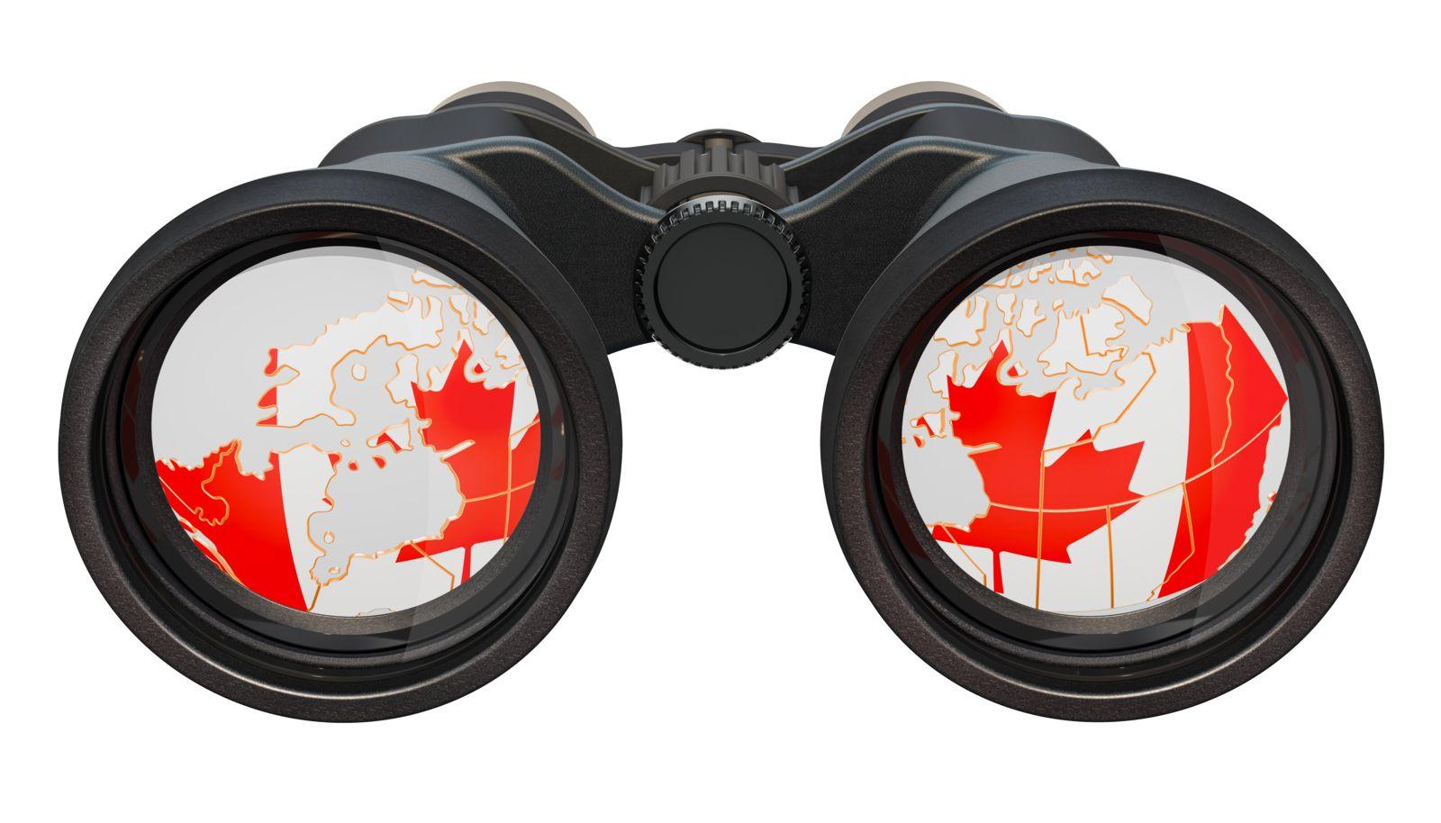 Binoculars spying on you