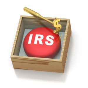Picture of IRS sign in the form of a button