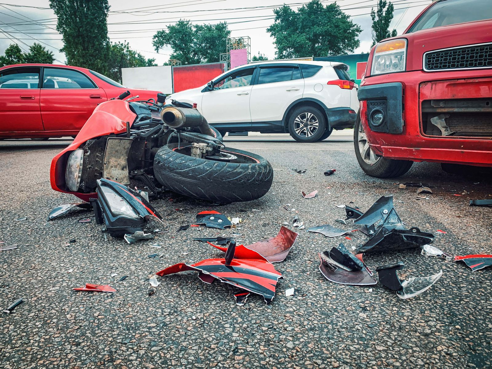 Motorcycle Crashes Caused By Car & Truck Drivers