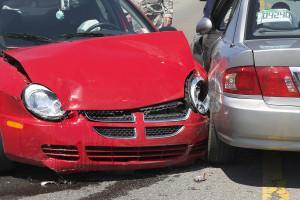 Two Car Crash Closeup