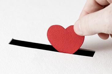 Charitable Giving Heart
