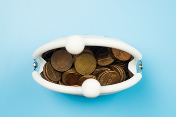 Coin Purse With Spare Change