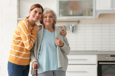 Elderly Mother and Her Caregiver Daughter