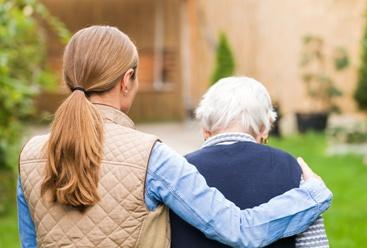 Elderly Mother With Her Caregiver