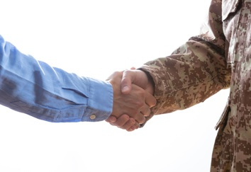 Veteran Shaking an Attorney's Hand