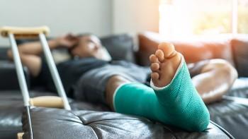 Broken bones can require a lengthy recovery.