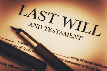Last Will and Testament Legal Document With a Pen