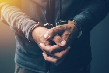 Man in Handcuffs After an Arrest