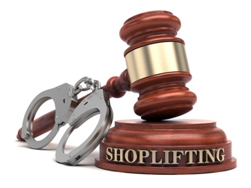 Shoplifting Gavel With a Pair of Handcuffs