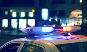 Investigation Into Crime With Police Car