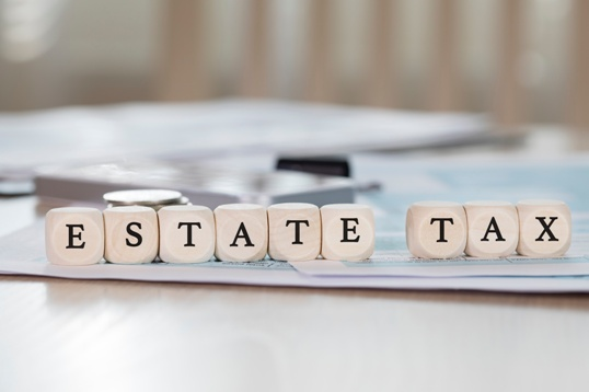 blocks spelling out estate tax