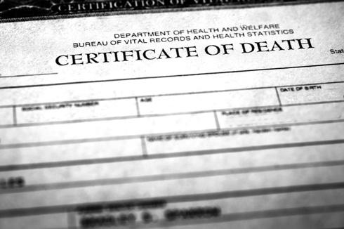 death certificate