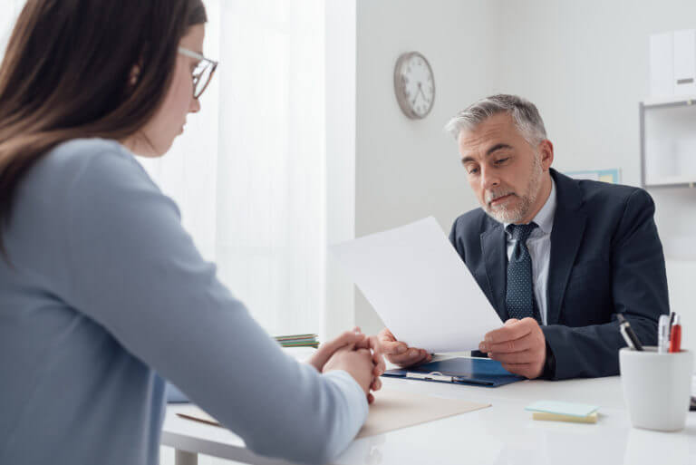 Girl Interviewing a Potential Personal Injury Lawyer The Law Offices of Matthew Konecky Personal Injury Lawyer in Palm Beach County Florida
