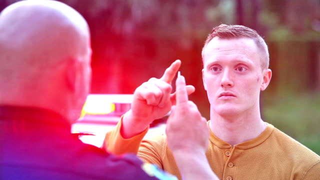 Man Taking Field Sobriety Test After Being Pulled Over For Drunk Driving DUI Lawyer Florida Matthew Konecky