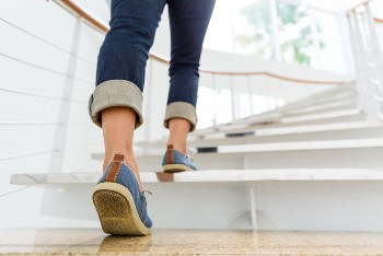 Stairway slip and fall accidents can cause serious injury.