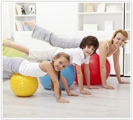 Make exercise trades with your children