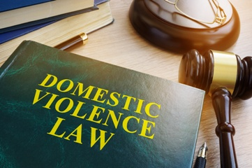Domestic Violence Law Book With a Gavel