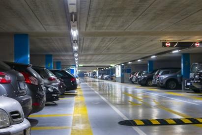 cars in parking garage