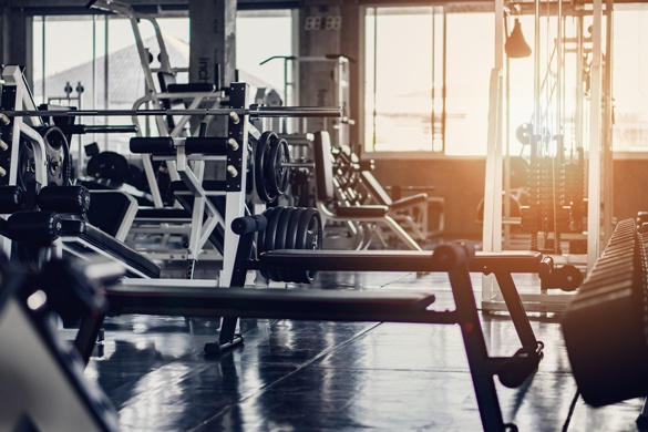 gym equipment workout slip and fall