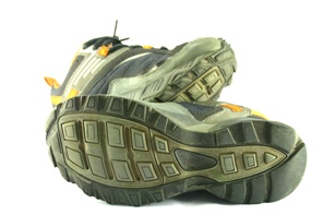 picture of shoes as evidence in a slip and fall