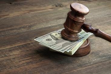 Bail Money Under a Judge's Gavel