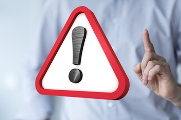 Exclamation Point Warning Sign