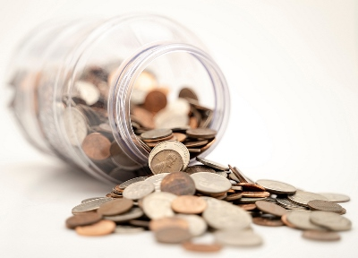 Jar of Money Saved for Retirement