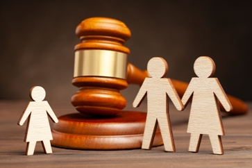 Gavel With Family Wooden Cutouts