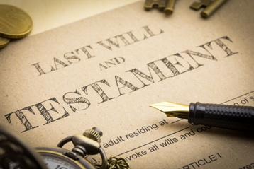 Last Will and Testament Paperwork and Pen