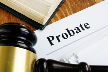 Probate Paperwork With a Gavel