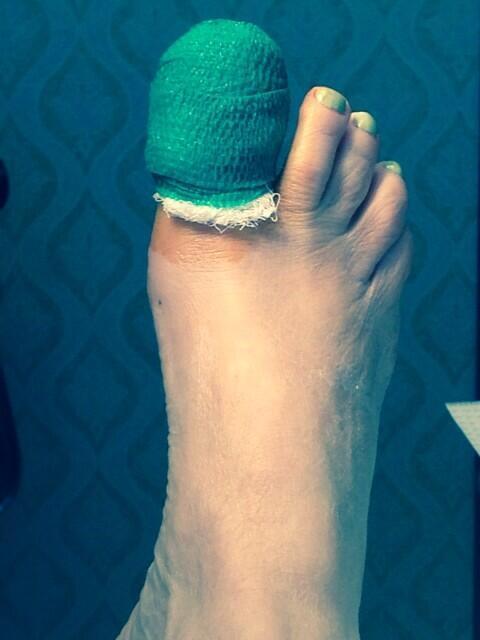 wrapped big toe