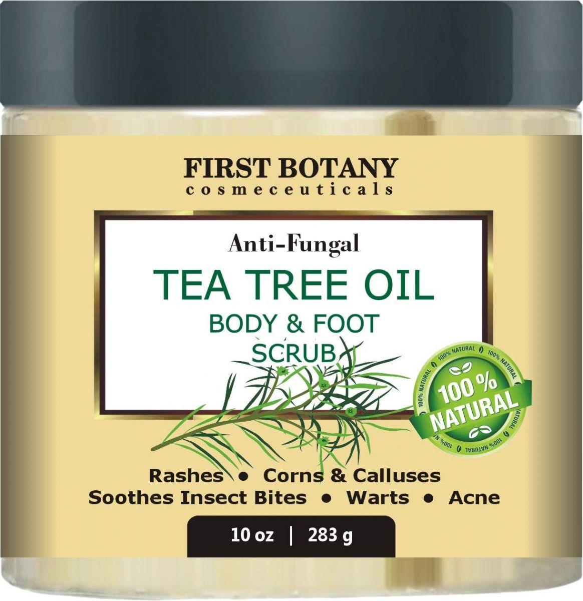 Anti-fungal tea tree oil body & foot scrub