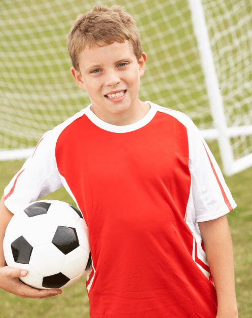 ball holding a soccer ball