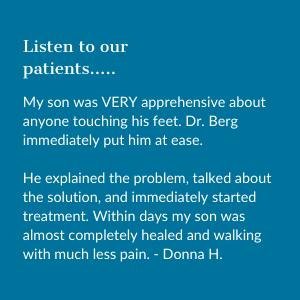 Testimonial from ingrown toenail patient