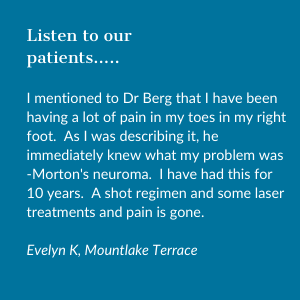 Testimonial from neuroma patient