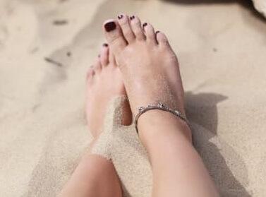 bare feet on sand