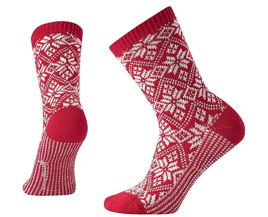 Smartwool traditional snowflake crew socks
