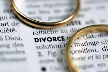 Divorce Paperwork With Wedding Rings