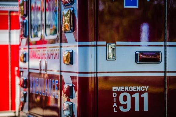 ambulance bicycle crash