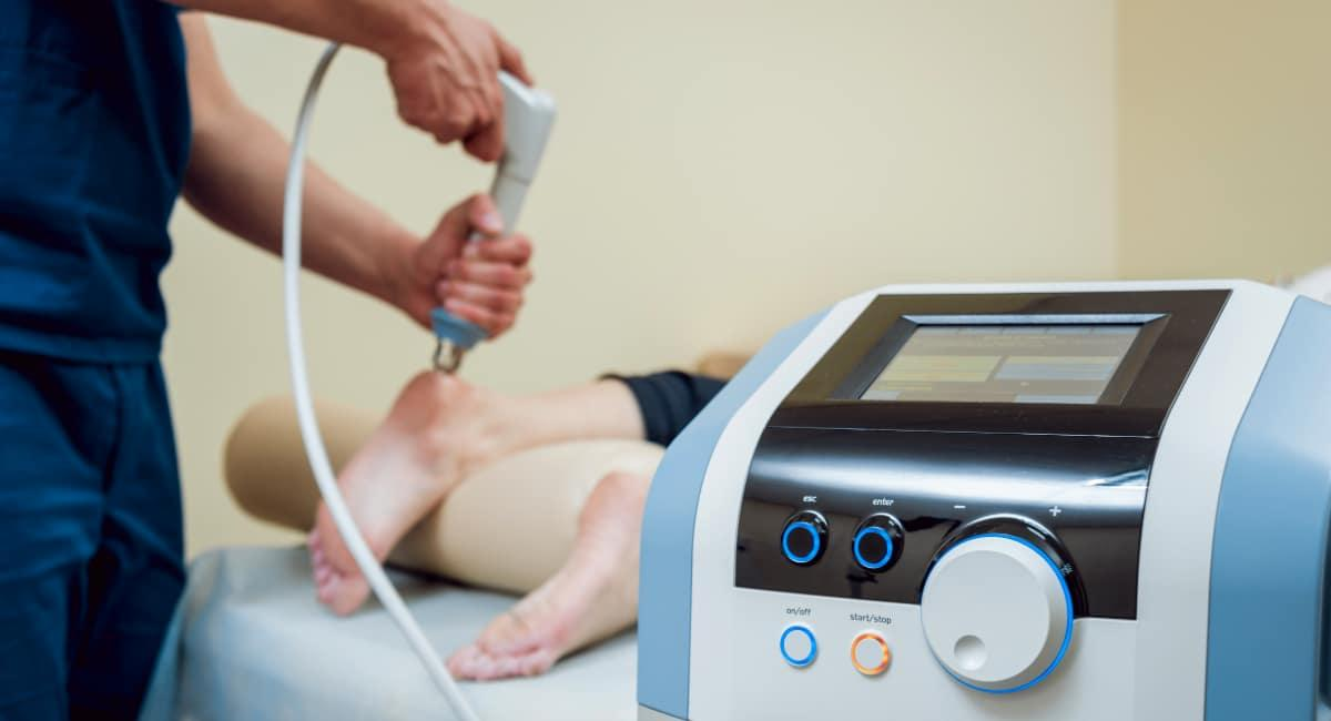 MLS Laser Therapy treatment on heel pain